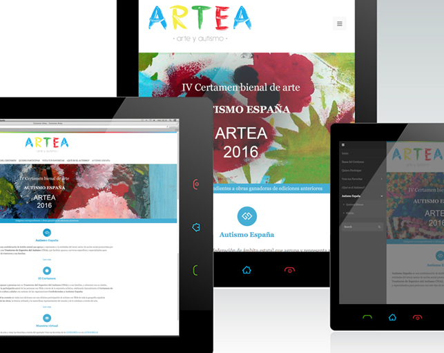 Diseño Página Web Certamen ARTEA