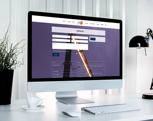 Diseño Página web IMDEA ENERGÍA ACES2030